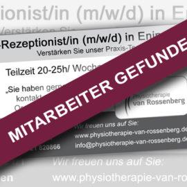 Mitarbeiter gefunden -Rezeptionist/in (m/w/d) gesucht