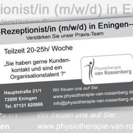 Rezeptionist/in (m/w/d) in Eningen gesucht